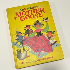 1968 The Merry Mother Goose Vintage Book